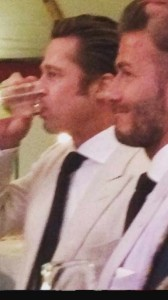 Brad Pitt Drinking Jam Inns Ice at Guy Ritchie's Wedding 2015