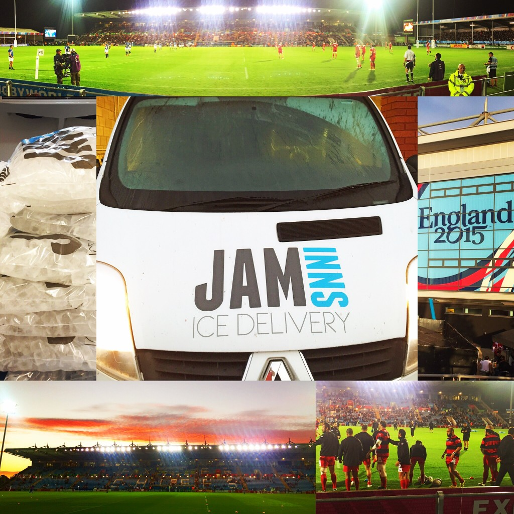 Jam Inns Ice Delivery Ice Baths for Rugby World Cup 2015